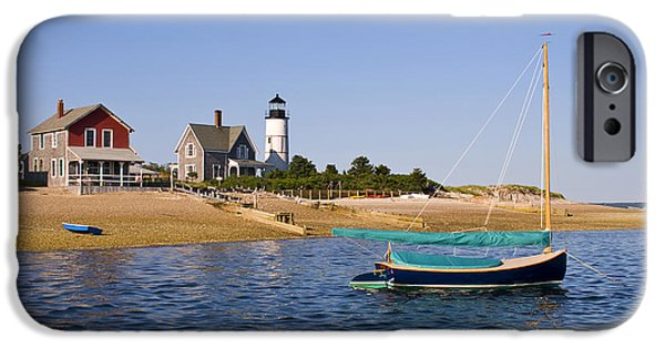 Cape Cod Lighthouse iPhone Cases - Sandy Neck Lighthouse iPhone Case by Charles Harden