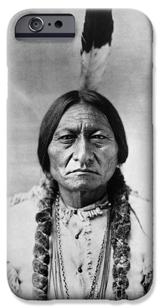 19th Century Photographs iPhone Cases - Sitting Bull (1834-1890) iPhone Case by Granger