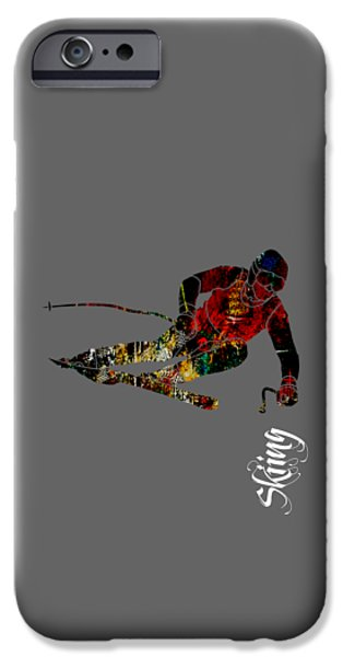 Winter iPhone Cases - Skiing Collection iPhone Case by Marvin Blaine