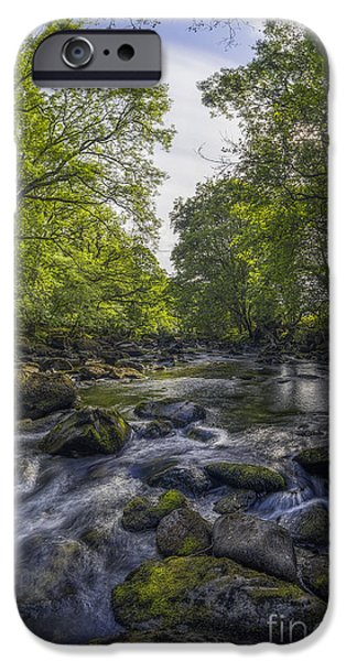 River View iPhone Cases - Summer River iPhone Case by Ian Mitchell