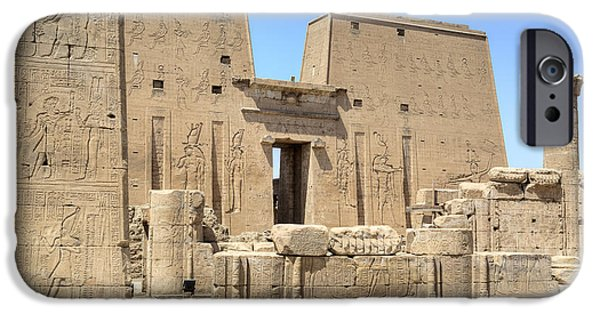 Horus iPhone Cases - Temple of Edfu - Egypt iPhone Case by Joana Kruse