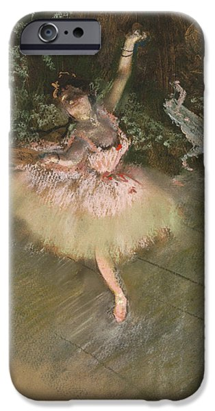 19th Century Pastels iPhone Cases - The Star iPhone Case by Edgar Degas