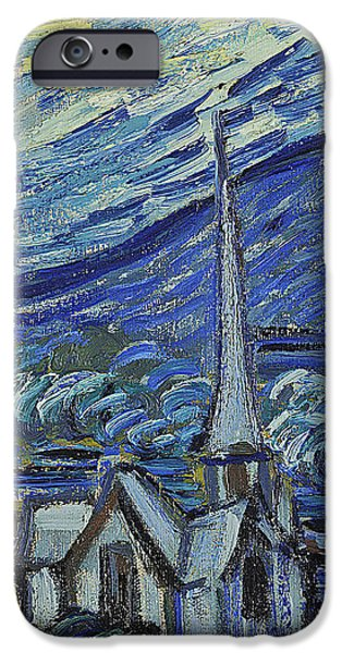 The Starry Night iPhone Case by Vincent van Gogh