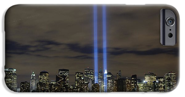 Buildings iPhone Cases - The Tribute In Light Memorial iPhone Case by Stocktrek Images