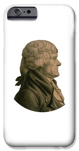 Politician iPhone Cases - Thomas Jefferson iPhone Case by War Is Hell Store