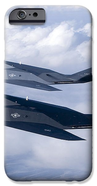 Two F-117 Nighthawk Stealth Fighters iPhone Case by HIGH-G Productions