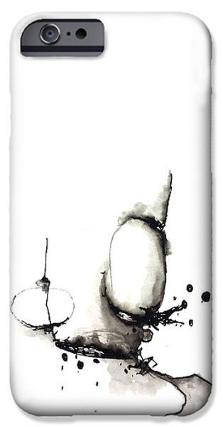 Abnormal Drawings iPhone Cases - Untitled iPhone Case by Nick Watts