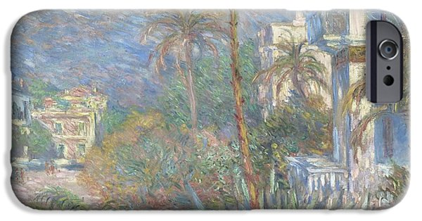 1884 iPhone Cases - Villas at Bordighera iPhone Case by Claude Monet