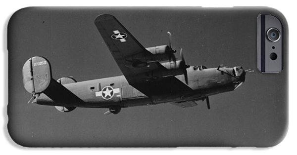 Planes Photographs iPhone Cases - WWII US Aircraft In Flight iPhone Case by American School