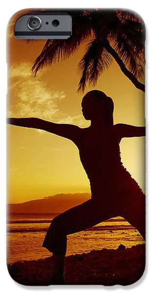Yoga At Sunset iPhone Case by Ron Dahlquist - Printscapes