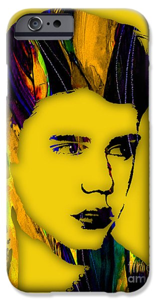 Cool Art iPhone Cases - Justin Bieber Collection iPhone Case by Marvin Blaine
