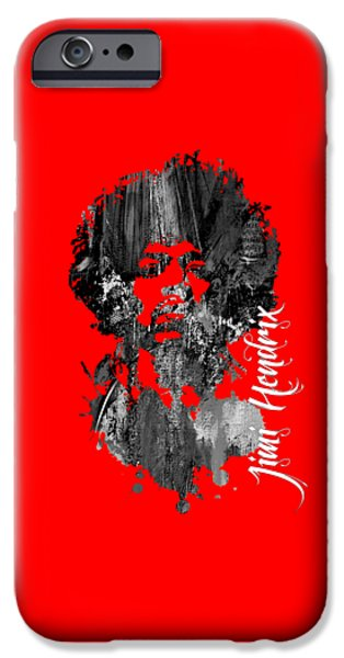 Johnny Allen Hendrix iPhone Cases - Jimi Hendrix Collection iPhone Case by Marvin Blaine