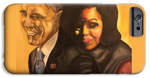 Obama iPhone Cases - 44 iPhone Case by Ebony Thompson