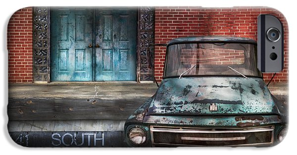 Old Cars iPhone Cases - 441 South iPhone Case by Debra and Dave Vanderlaan