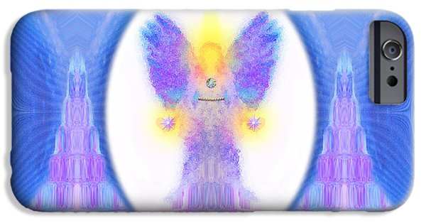 Pearls Of Wisdom iPhone Cases - 444 Angel Crystals iPhone Case by Barbara Tristan