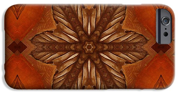 Graphic Design iPhone Cases - Pattern and Optics Art iPhone Case by Ricki Mountain