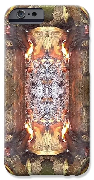 Figures Pyrography iPhone Cases - 4all Photos 2b iPhone Case by Chris  Chatenka