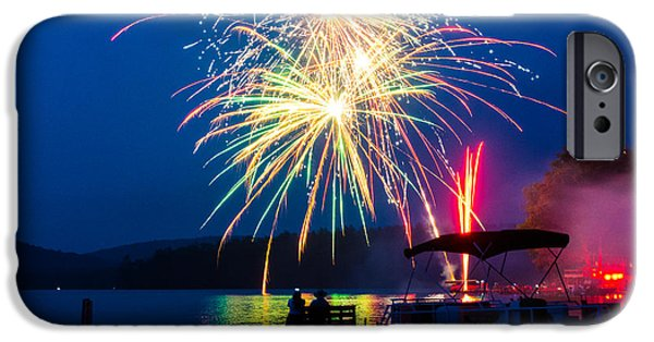 Independance Day iPhone Cases - 4th Of July Finger Lakes Fireworks iPhone Case by John Baumgartner
