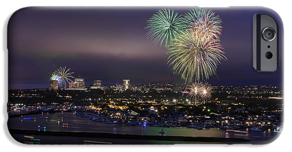 4th July Digital Art iPhone Cases - 4th of July Fireworks iPhone Case by Eddie Yerkish