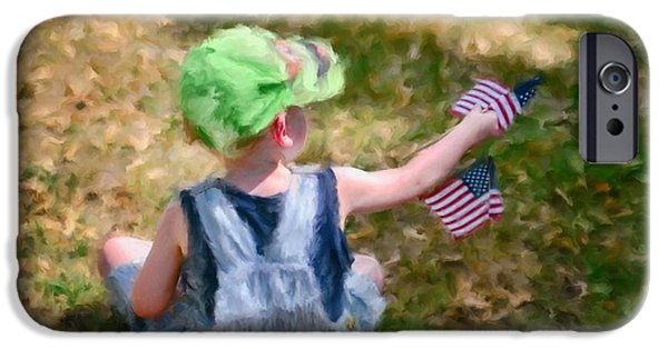 4th July Digital Art iPhone Cases - 4th of July iPhone Case by Mary Timman