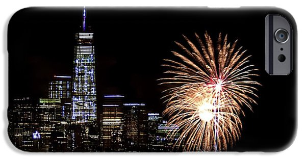 Empire State iPhone Cases - 4th of July iPhone Case by MingTa Li