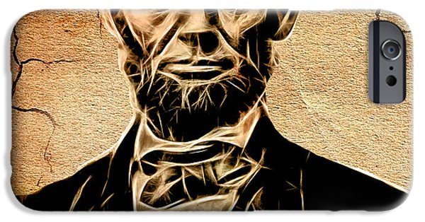 Abraham Lincoln iPhone Cases - Abraham Lincoln Collection iPhone Case by Marvin Blaine