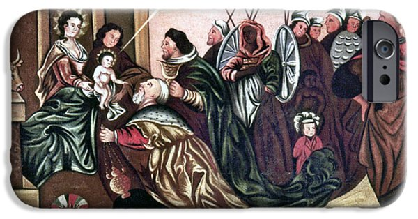 Royal Family Arts iPhone Cases - Adoration Of The Magi iPhone Case by Granger