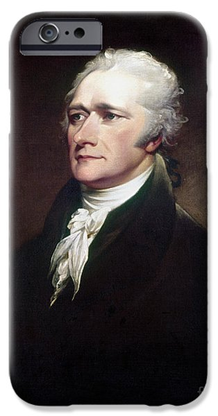 Best Sellers -  - Politician iPhone Cases - Alexander Hamilton iPhone Case by Granger