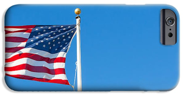 4th July iPhone Cases - American flag iPhone Case by Mariusz Blach