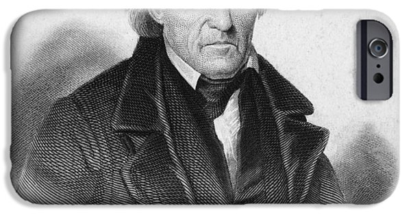 Autographed Photographs iPhone Cases - Andrew Jackson (1767-1845) iPhone Case by Granger
