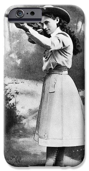 ANNIE OAKLEY (1860-1926) iPhone Case by Granger