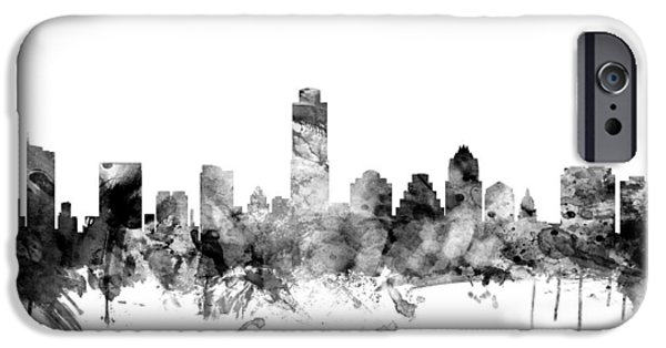 United States iPhone Cases - Austin Texas Skyline iPhone Case by Michael Tompsett