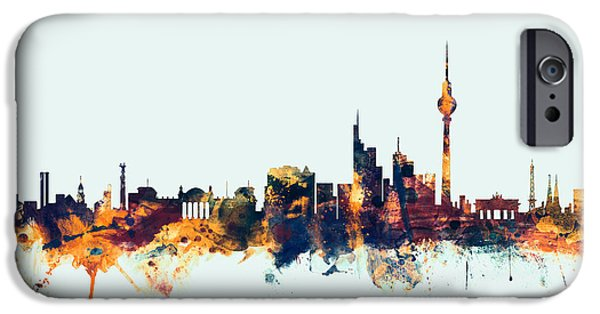 Berlin iPhone Cases - Berlin Germany Skyline iPhone Case by Michael Tompsett