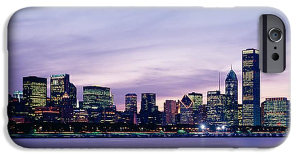 Chicago iPhone Cases - Buildings At The Waterfront, Chicago iPhone Case by Panoramic Images