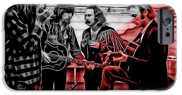 Young iPhone Cases - Crosby Stills Nash and Young iPhone Case by Marvin Blaine