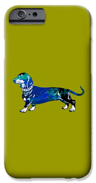 Dog iPhone Cases - Dachshund Collection iPhone Case by Marvin Blaine