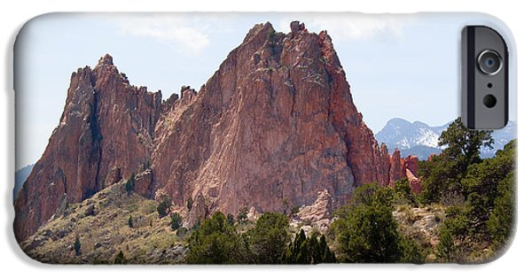Springtime In The Park iPhone Cases - Dakota Trail at Garden of the Gods iPhone Case by Steve Krull
