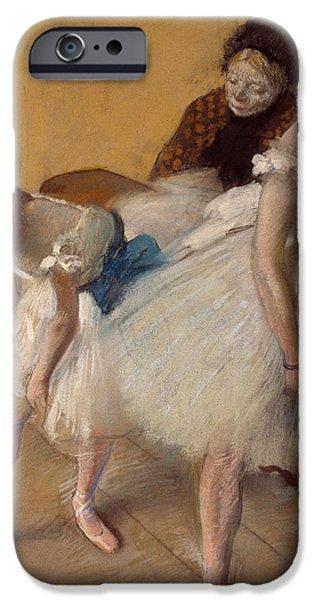 Ballet Dancers iPhone Cases - Dance Examination iPhone Case by Edgar Degas