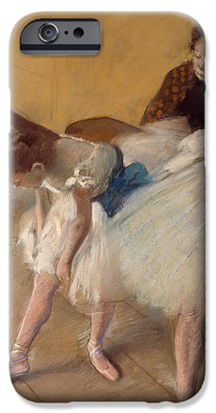 19th Century Pastels iPhone Cases - Dance Examination iPhone Case by Edgar Degas