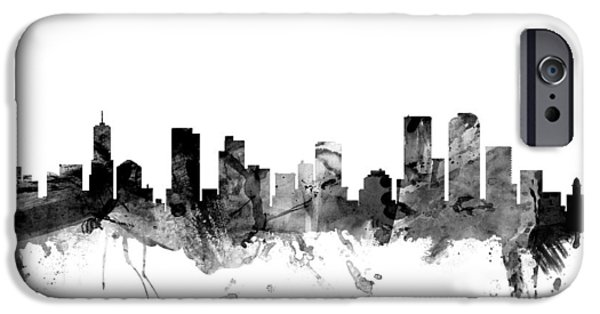 United States iPhone Cases - Denver Colorado Skyline iPhone Case by Michael Tompsett