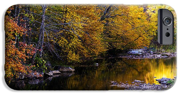 West Fork iPhone Cases - Fall Color Gauley River Headwaters iPhone Case by Thomas R Fletcher