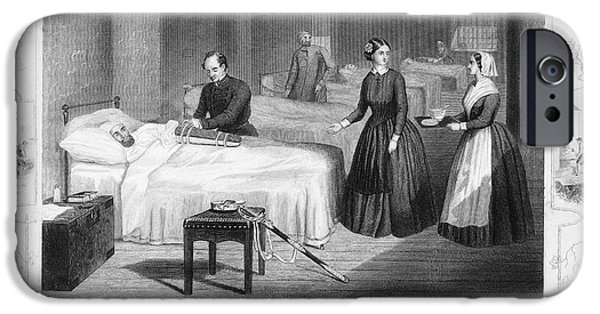 Reformer iPhone Cases - Florence Nightingale iPhone Case by Granger