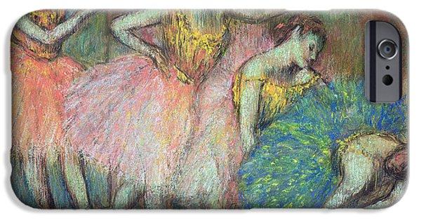 Ballet Dancers iPhone Cases - Four Dancers iPhone Case by Edgar Degas