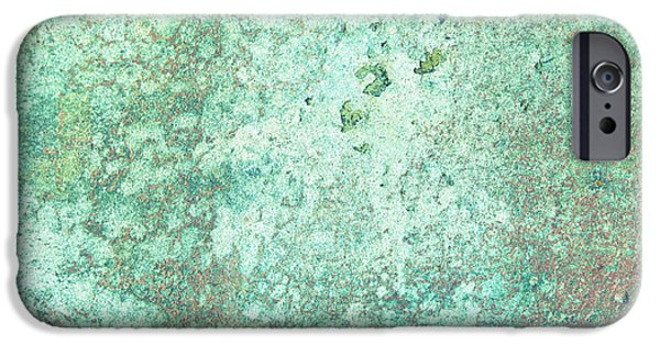 Lichens iPhone Cases - Grungy background iPhone Case by Tom Gowanlock