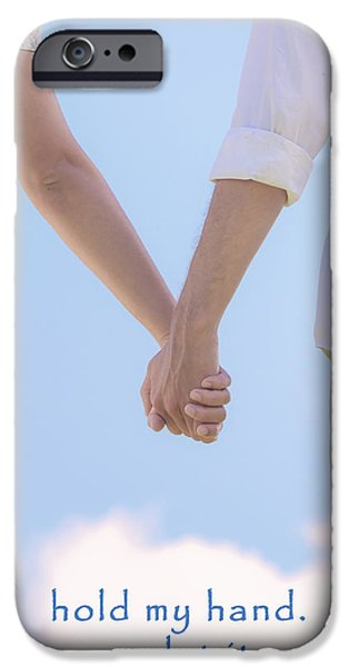 Relationship iPhone Cases - Hand In Hand iPhone Case by Joana Kruse