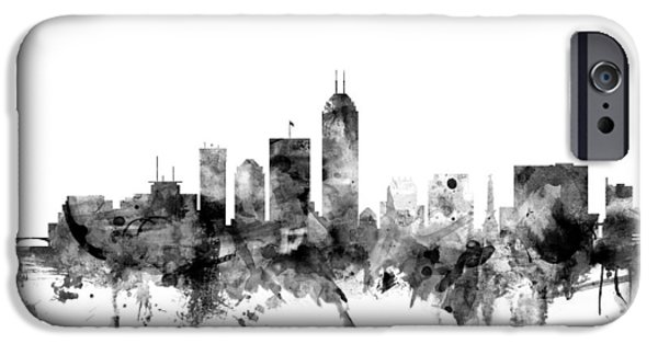 Indianapolis iPhone Cases - Indianapolis Indiana Skyline iPhone Case by Michael Tompsett