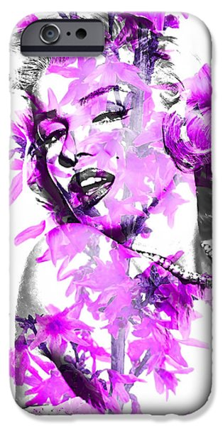 Portrait iPhone Cases - Marilyn Monroe Collection iPhone Case by Marvin Blaine