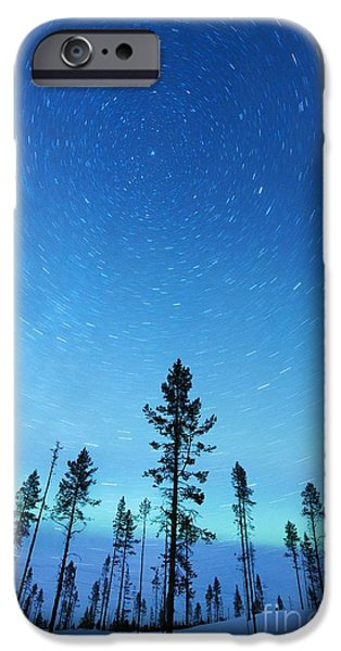Snowy Night iPhone Cases - Northern Lights iPhone Case by Jeremy Walker