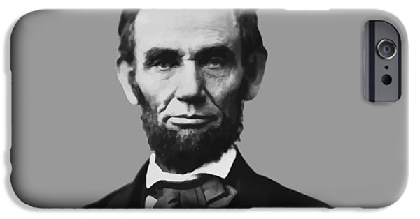 Patriotism iPhone Cases - President Lincoln iPhone Case by War Is Hell Store