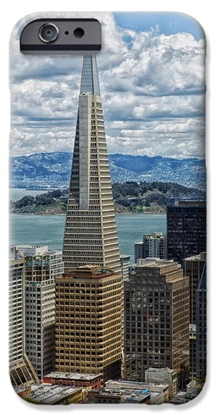 Alcatraz iPhone Cases - San Franciscos Transamerica Pyramid iPhone Case by Mountain Dreams
